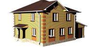 Цена кирпичного дома в 2 этажа с черновой отделкой = 17900 руб за м2