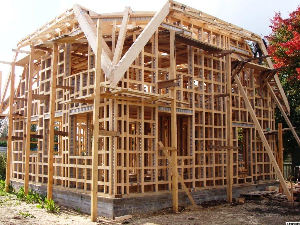 Строительство деревянного каркасного дома