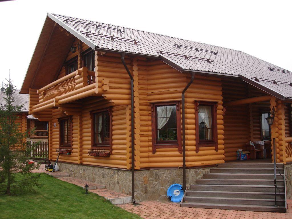 дом из оцилиндрованного бревна Челябинск